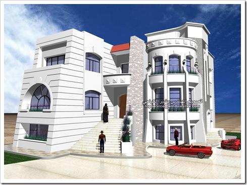 تصاميم هندسيه لفيلا بالماكس-المهندس بشير الكينعي (6)